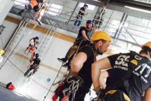 Utbildningar inom fallskydd, yrkesklättring och lyft