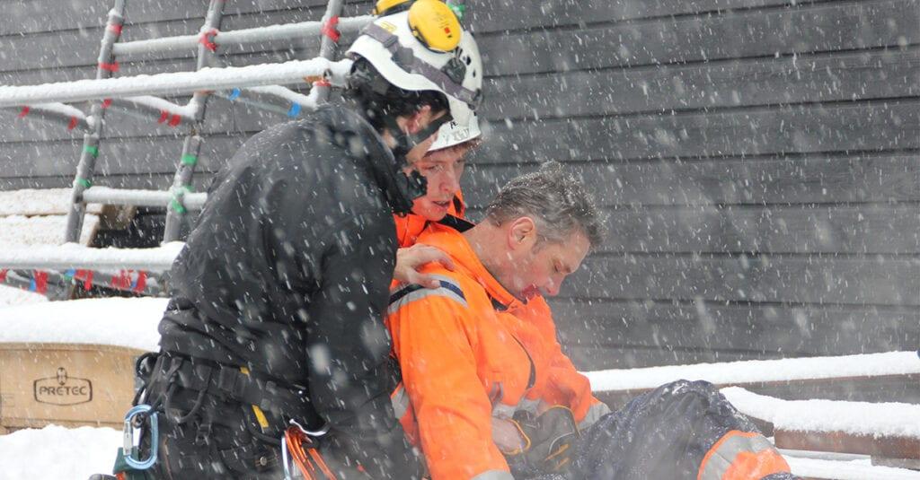 Räddningsövning GWO vindkraft