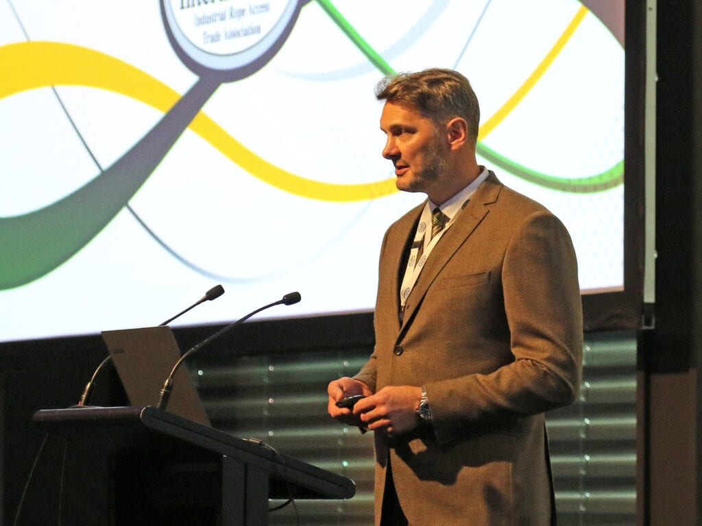 Nigel på IRATA:S ITEC konferens 2019