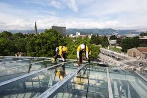 Arbete på tak
