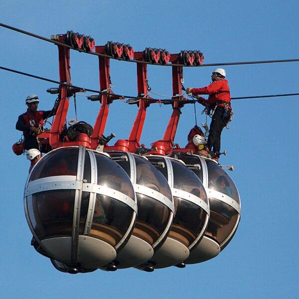 Gondoler, linbanor, lift, räddning, evakuering, linbaneevakuering, riskanalys, räddningsplan