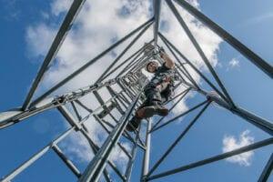 Fallskydd kurs utbildning IRATA yrkesklättring lyft säkerhet räddning slutna utrymmen arbetsledning linbana evakuering