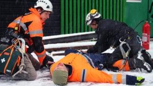 Räddning Bas, räddning, evakuering, nödställd, fallrisk, kurs, utbildning, säkert